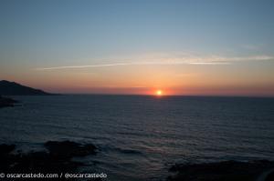 Puesta de sol en Baiona