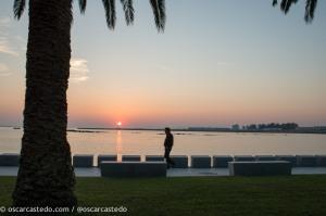 Puesta de sol en Ría de Arousa