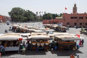 Puesto de comida callejera en Yamaa el Fna (Marrakech)