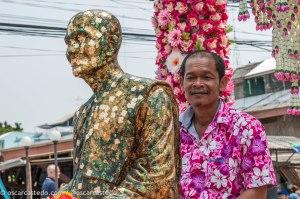 Procesión durante el Songkran