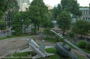 Caza y helicóptero del Museo de la Guerra
