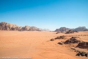 Formaciones montañas en Wadi Rum