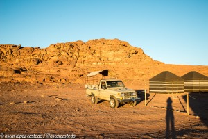 Amanece en el campamento del Wadi Rum
